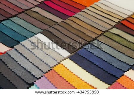 fabric sampler - stock photo
