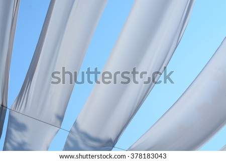 Fabric sheet protect sunlighting and decor for outdoor