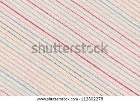 Fabric striped texture. Clothes background. Close up - stock photo