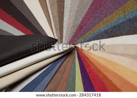 fabric swatches - stock photo