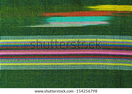 Fabric texture, cloth background, Thai style - stock photo