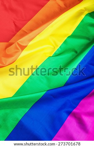 Fabric texture of the Gay flag background