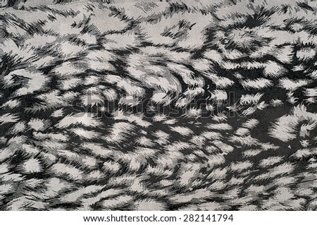 Fabric texture silk black. With gray spots. abstraction - stock photo