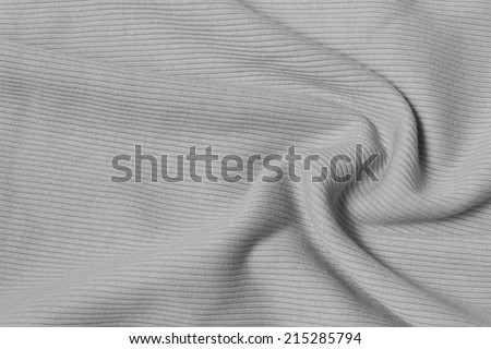Fabric texture with folds Monochrome - stock photo