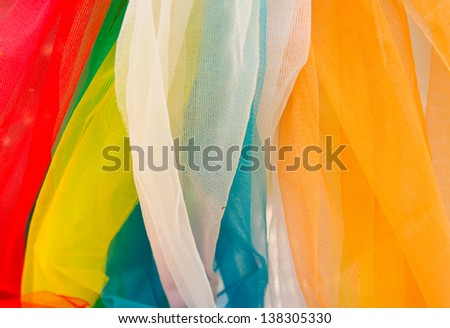 Fabric variety of colors. - stock photo
