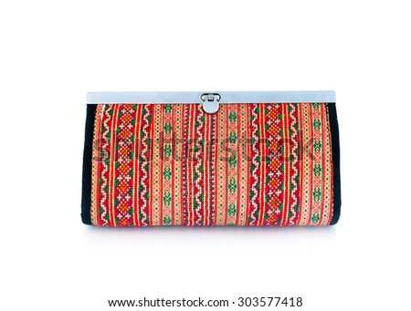 Fabric Wallet, lady purse. - stock photo