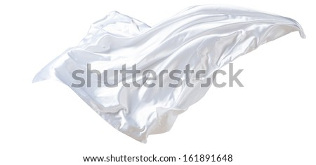 fabric weaves the wind, isolated on white background - stock photo