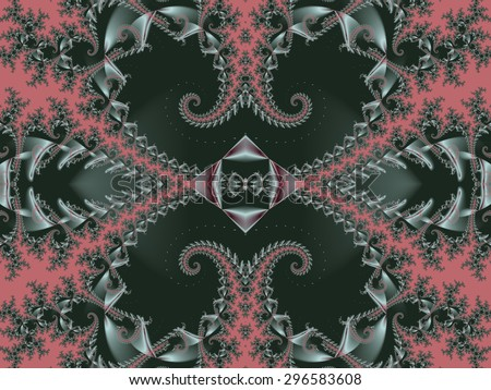 Fabulous background. Satin pattern with spirals. Artwork for creative design, art and entertainment.  - stock photo