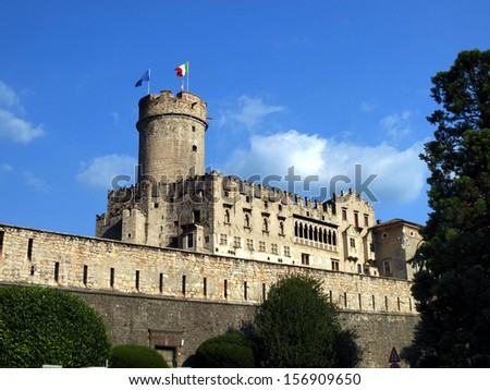 fabulous Castle in the city centre of Trento - stock photo