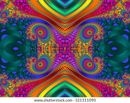 Fabulous Colorful abstract background. Artwork for creative design, art and entertainment. Computer generated graphics.  - stock photo