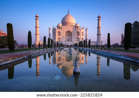 Fabulous Taj Mahal. - stock photo