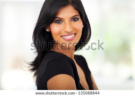 fabulous young indian businesswoman closeup portrait - stock photo