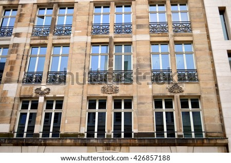 Facade in Berlin, capital city of Germany