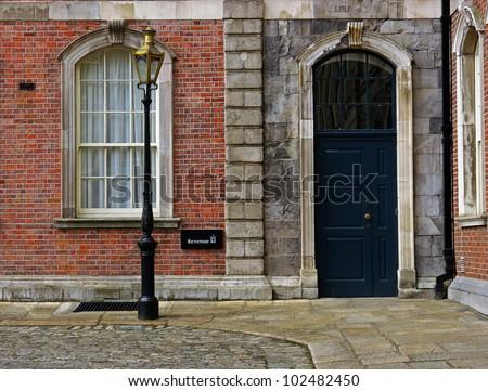 Facade in Dublin - stock photo