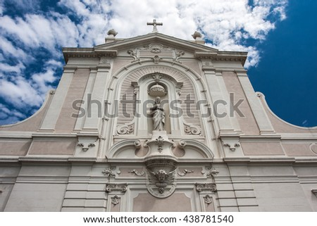 Facade of a catholic church
