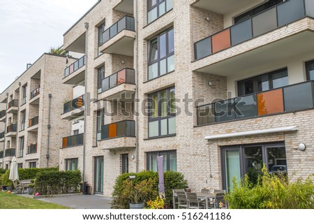 Facade Of A Modern Apartment Building