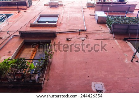 Facade of a typical traditional house in Naples, Italy - stock photo