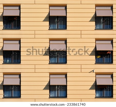 facade of an apartment building in Berlin - stock photo
