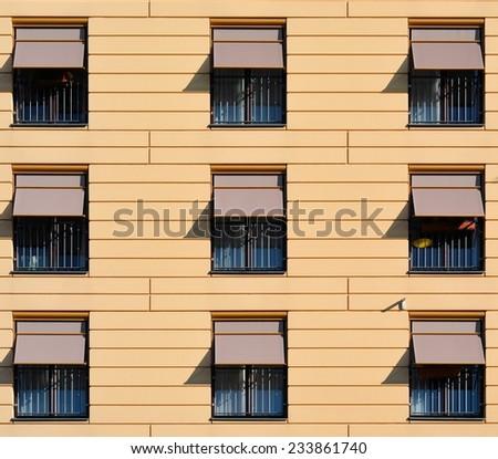 facade of an apartment building in Berlin - stock photo