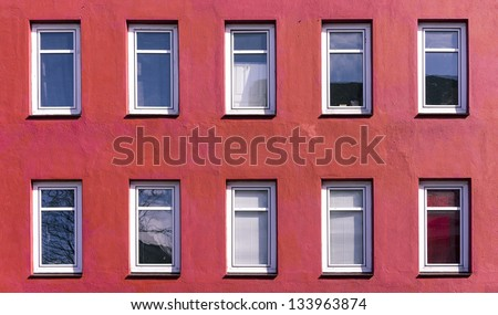 Facade of an apartment building in Kiel, Germany