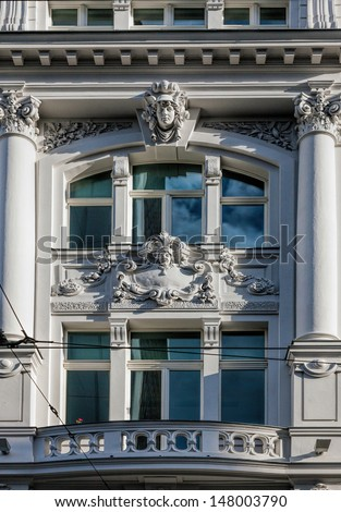 Facade of Art Novae buildings in Berlin, Germany
