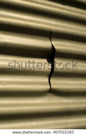 Facade of Corrugated Metal