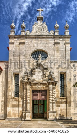 Facade of matriz church of Aveiro, Portugal