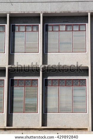 Facade of office concrete building.