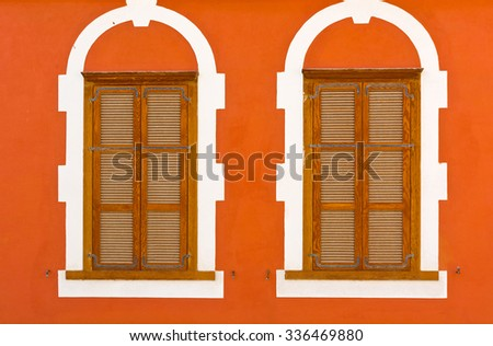 Facade of Old Building after Reconstruction in Tel Aviv - stock photo