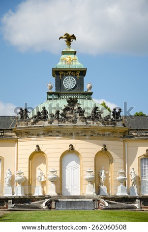 Facade of Picture Gallery in Park Sanssouci, Potsdam, Germany - stock photo