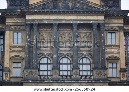 Facade of Prague National Museum, Czech Republic - stock photo