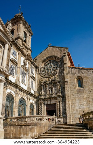 Facade of Sao Francisco church in Porto.