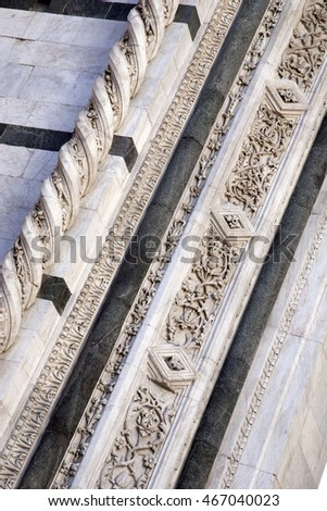 Facade of Sienna Cathedral Church, Tuscany, Italy
