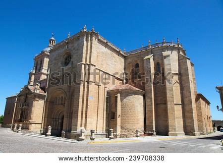 Facade of the Capilla de Cerralbo (16th Century) in Ciudad Rodrigo, a small cathedral city in the province of Salamanca, Spain. - stock photo