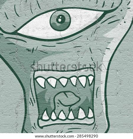 Face alien - stock photo