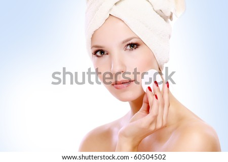 Face cleaning - stock photo