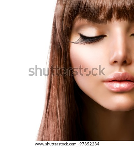 Face.Fashion Makeup. Perfect Skin - stock photo