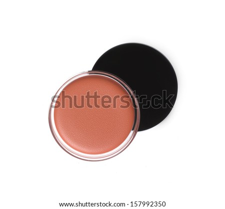 Face foundation isolated on white