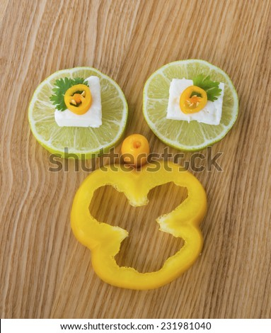Face fruits - stock photo