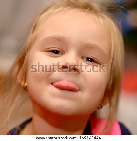 face little girl - stock photo