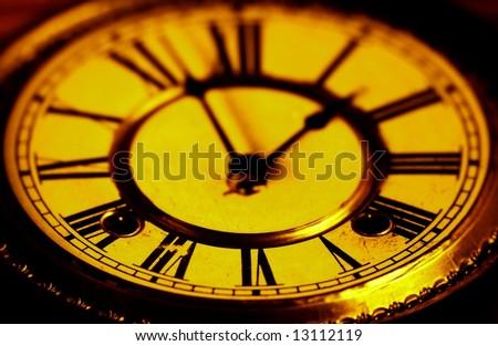 Face of a clock - stock photo