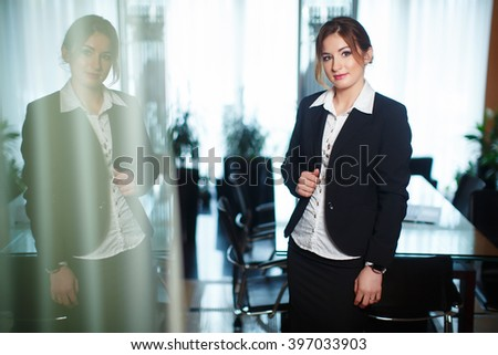 Face of beautiful business woman