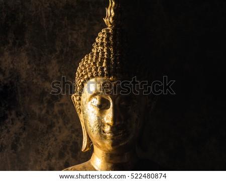 Face Of BuddhaBuddha Statue Close Up At Wat Phra That Doi Suthep Is