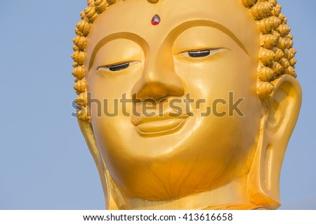Face of Buddha statue.