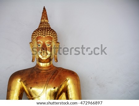 face of golden buddha - vintage style