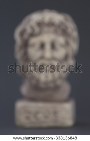 Face of the God Zeus intentionally blurred - stock photo