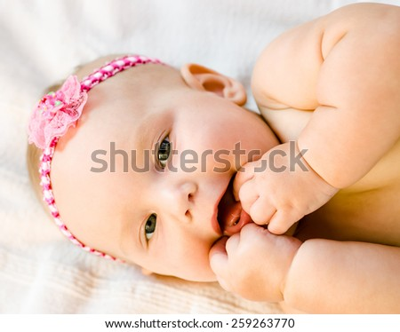 Face portrait of baby