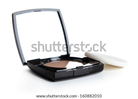 Face powder isolated on the white