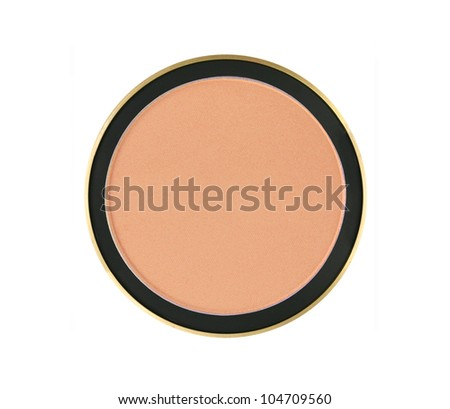 face powder isolated on white background - stock photo