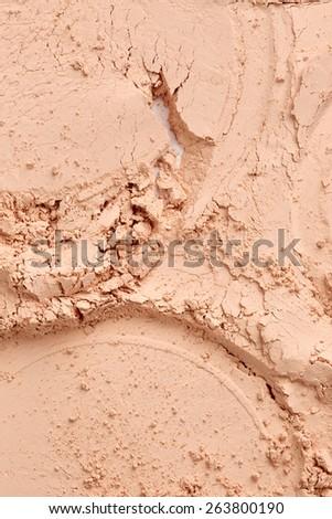 Face powder texture - stock photo